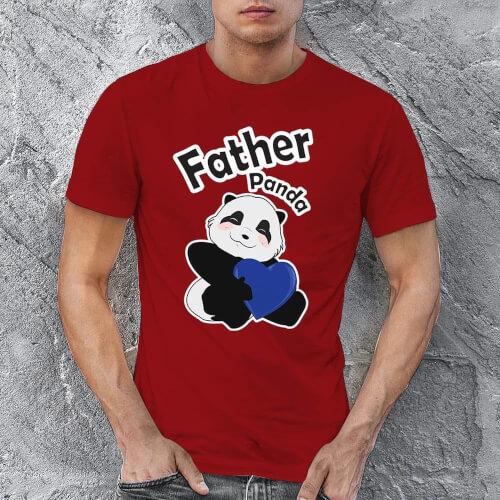 Tisho - Sevimli Panda Erkek Tişört - Tekli Kombin