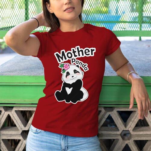 Tisho - Sevimli Panda Kadın Tişört - Tekli Kombin