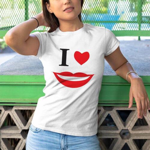 Smile Kadın Tişört - Tekli Kombin