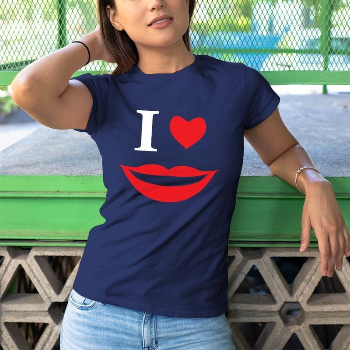 Smile Kadın Tişört - Tekli Kombin - Thumbnail