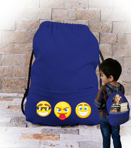 topextra - smile tasarım çanta Büzgülü Çocuk Sırt Çantası