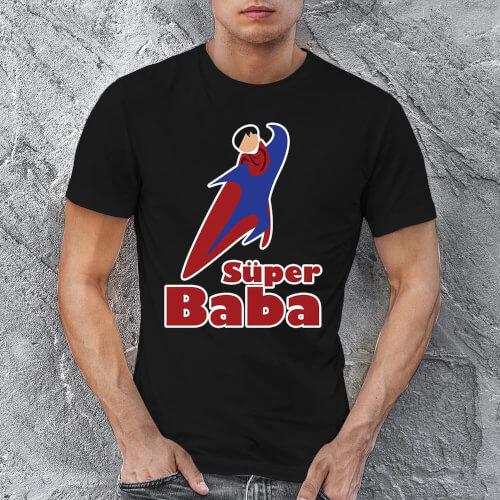 Süper Baba Erkek Kısa Kol Tişört - Tekli Kombin
