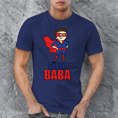 Süper Baba Erkek Tişört - Tekli Kombin - Thumbnail