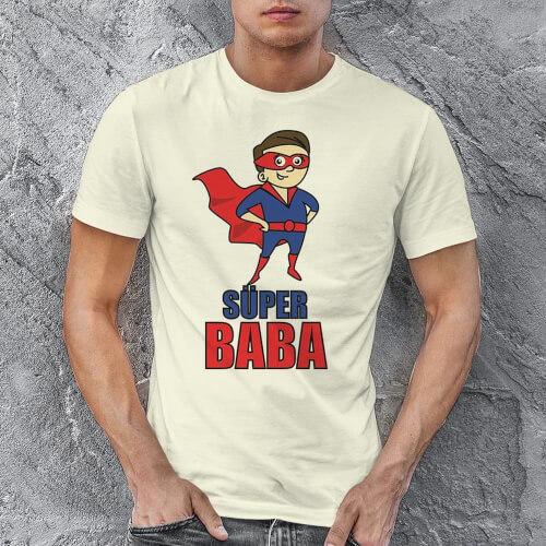 Süper Baba Erkek Tişört - Tekli Kombin