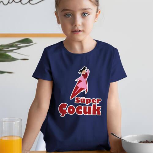 Tisho - Süper Kız Çocuk Kısa Kol Tişört - Tekli Kombin