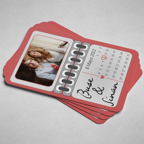 Takvim Tasarımlı Düğün - Nişan - Nikah Magneti