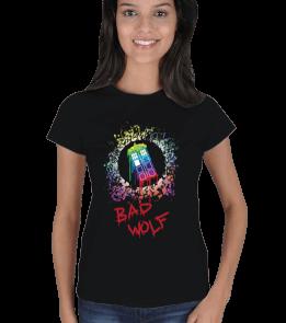Bad Wolf - Tardis - Renkli Kadın Tişört
