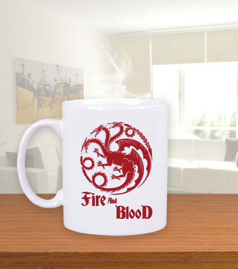 Metal Tee - Targaryen Beyaz Kupa Bardak