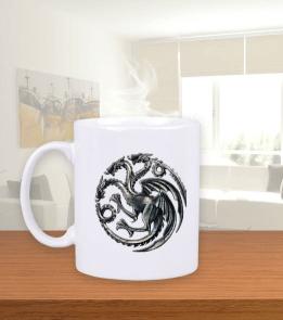 Targaryen Hane Simgesi Beyaz Kupa Bardak