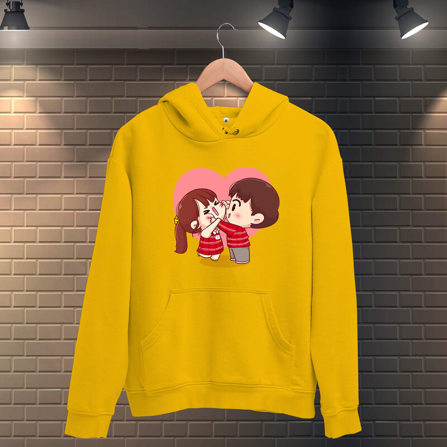 Tisho - Tatlı Sevgililer Erkek Kapüşonlu Sweatshirt
