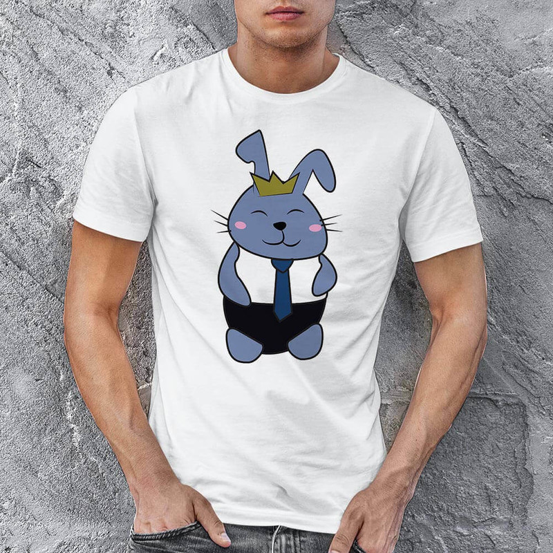 Tavşan Erkek Tişört - Tekli Kombin - Thumbnail