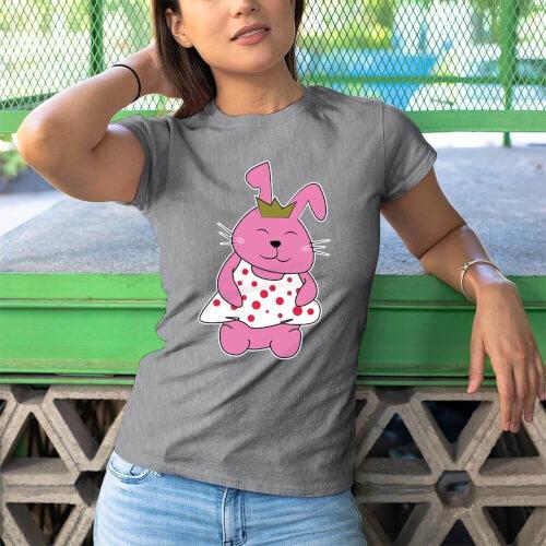 Tisho - Tavşan Kadın Tişört - Tekli Kombin