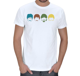 mc - The Beatles - Silüet - [1] Erkek Tişört