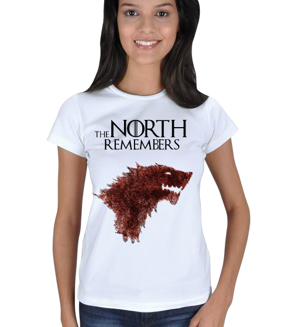 Fanart - THE NORTH REMEMBERS Kadın Tişört
