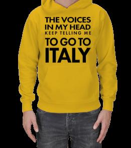 italyanca.kelimeler - TO GO TO ITALY Erkek Kapşonlu