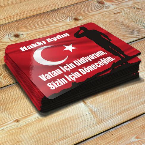 Türk Bayraklı Asker Magneti