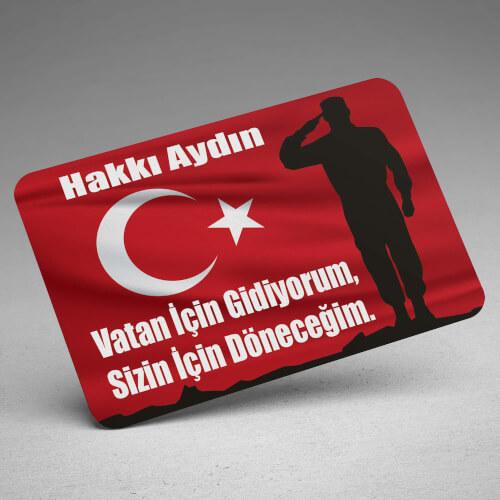 Türk Bayraklı Asker Magneti - Thumbnail