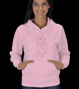 Visual design - winnie pooh Kadın Kapşonlu