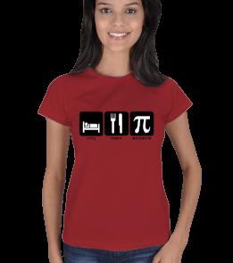 mathdesign - Yemek Uyku ve Matematik BK Kadın Tişört