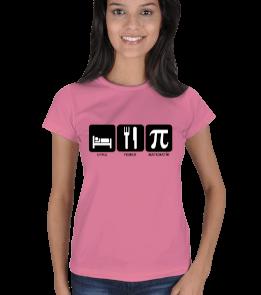 mathdesign - Yemek Uyku ve Matematik BP Kadın Tişört
