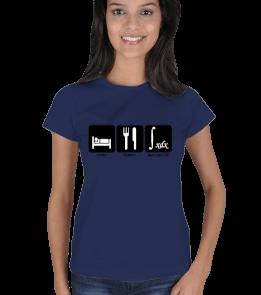 mathdesign - Yemek Uyku ve Matematik İBL Kadın Tişört
