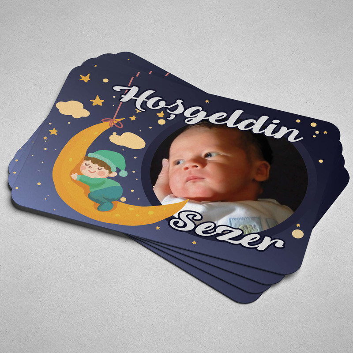 Yeni Doğan Erkek Bebek Magneti - Thumbnail